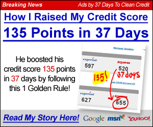 Solve your credit problems in 37 days